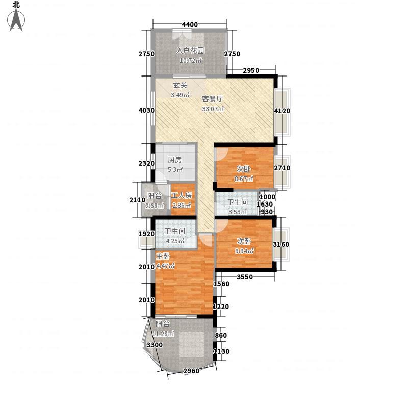 富通城二期124.27㎡富通城二期户型图C栋04奇数层3室2厅2卫1厨户型3室2厅2卫1厨