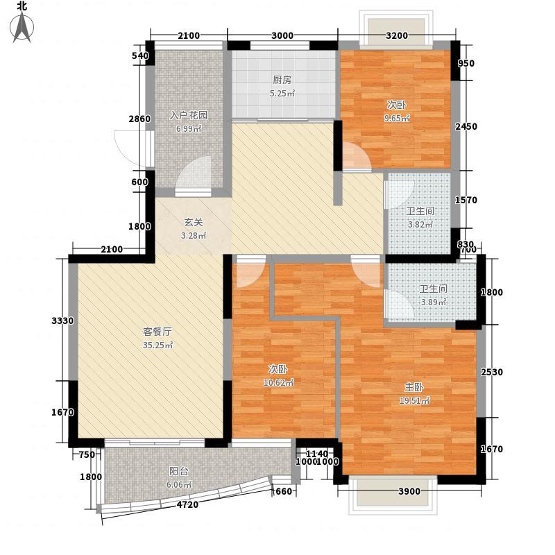 华地学府名都127.00㎡华地学府名都户型图9号楼127平米户型2室2厅2卫1厨户型2室2厅2卫1厨