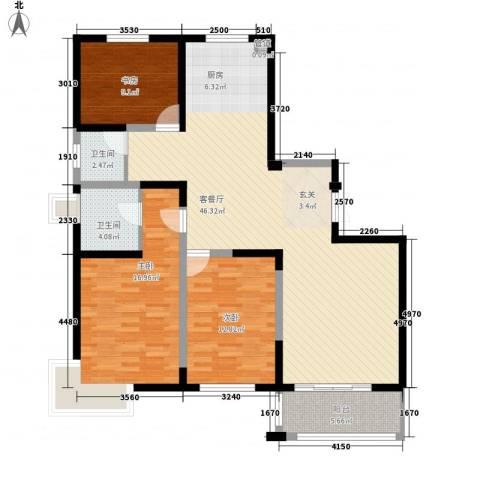 国泰新都3室1厅2卫0厨140.00㎡户型图