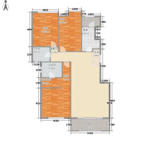 万象上东3室1厅2卫1厨181.00㎡户型图