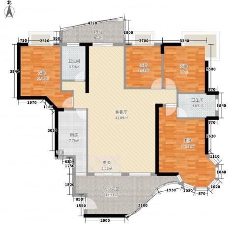 金海湾4室1厅2卫1厨163.00㎡户型图