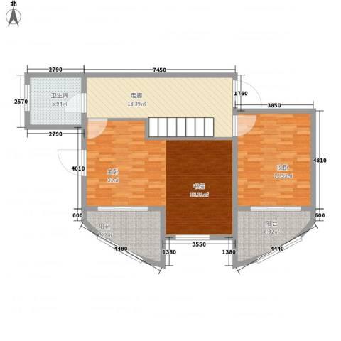 九城湖滨国际2室0厅1卫0厨243.00㎡户型图