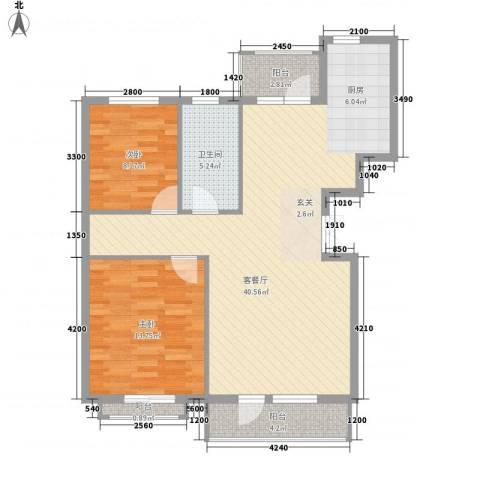 幸福E家五期2室1厅1卫0厨106.00㎡户型图