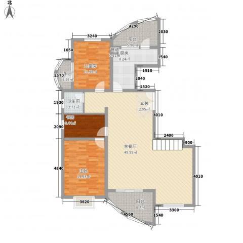 九城湖滨国际3室1厅1卫1厨243.00㎡户型图