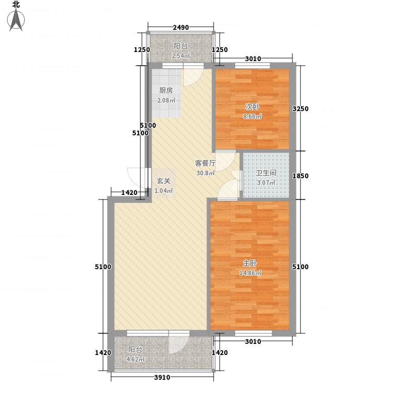 龙逸休闲湾二期76.40㎡龙逸休闲湾二期户型图76.4平户型图2室1厅1卫1厨户型2室1厅1卫1厨