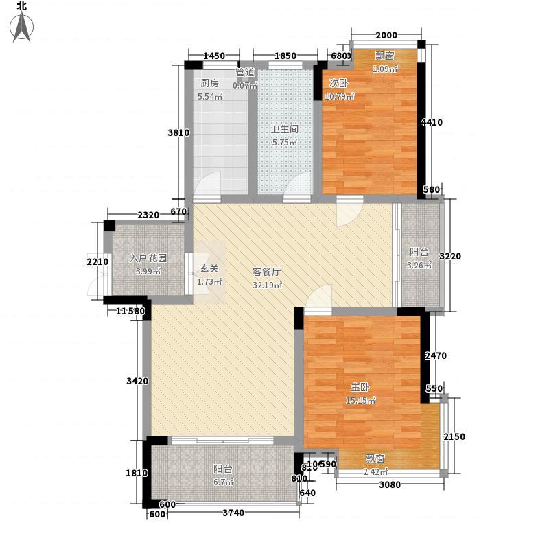 公园道1号18.40㎡8#G3108户型2室2厅1卫1厨