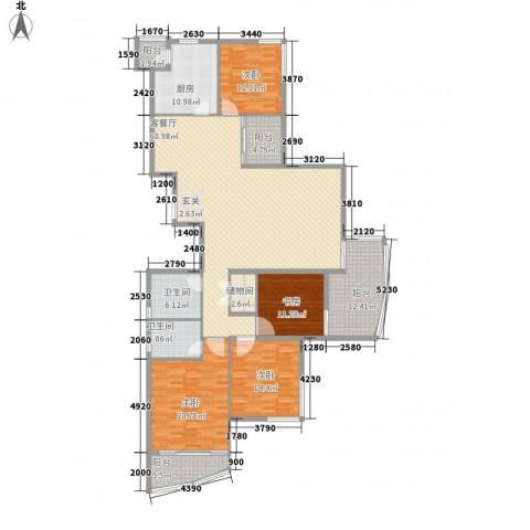 大儒世家绿园4室1厅2卫1厨235.00㎡户型图