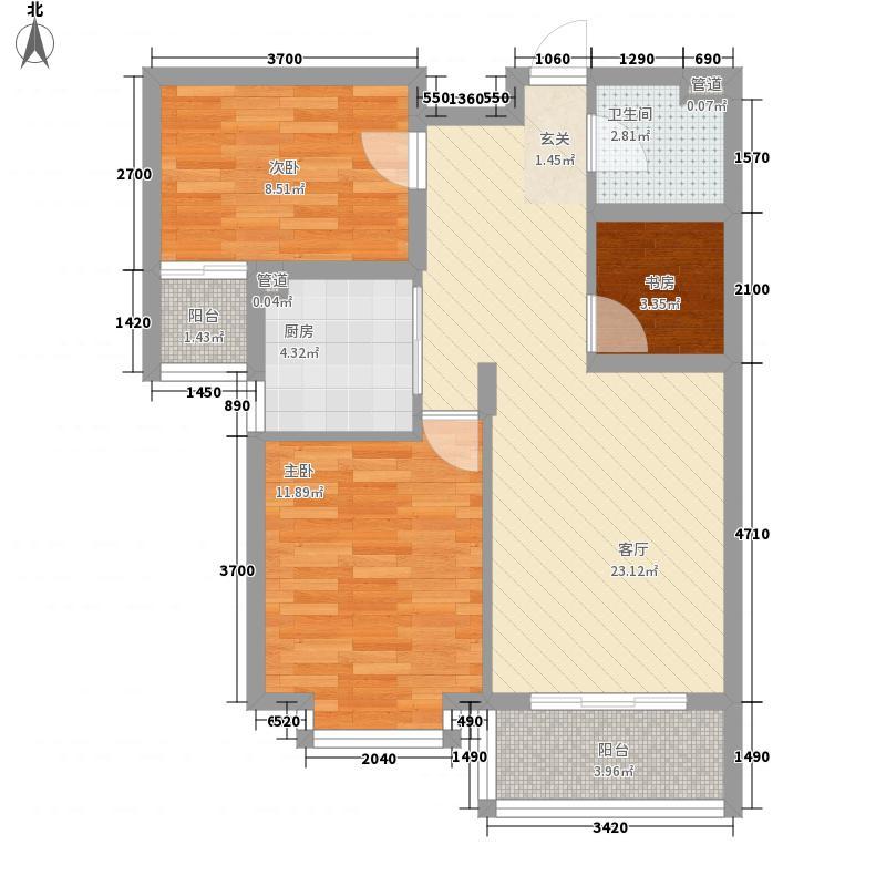 大洋湖滨花园100.00㎡大洋湖滨花园3室户型3室