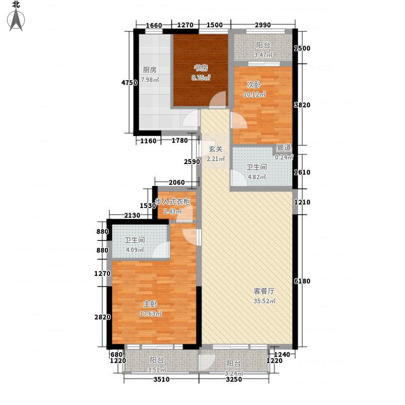 美利山145.03㎡C2号楼A3(a3)户型3室2厅2卫1厨
