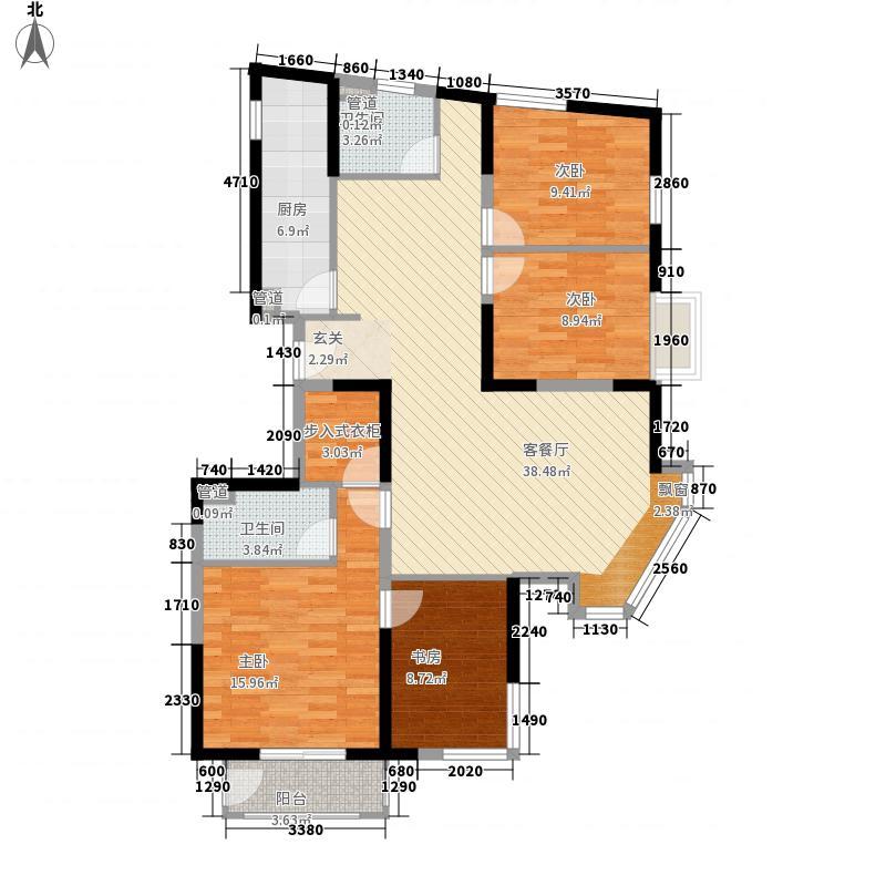 美利山142.30㎡C5号楼C9-3户型4室2厅2卫1厨