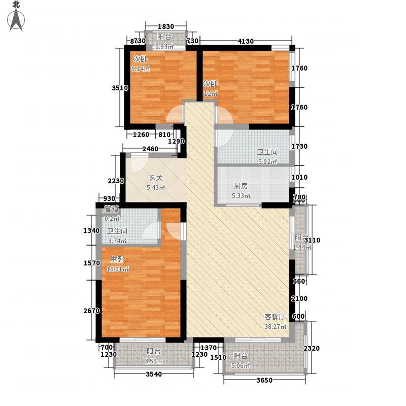 美利山143.69㎡C25号楼A7户型3室2厅2卫1厨
