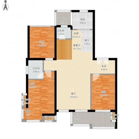 新凯御景湾3室1厅2卫1厨149.00㎡户型图