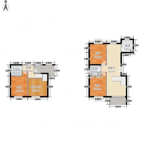 世纪星城・长城国际3室1厅2卫1厨123.00㎡户型图