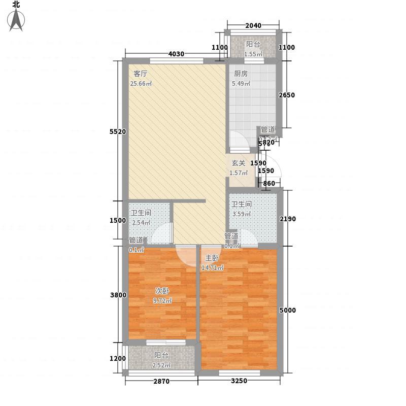康园小区61.00㎡康园小区2室户型2室