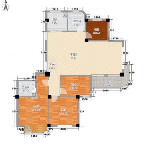润和园4室1厅2卫1厨154.00㎡户型图