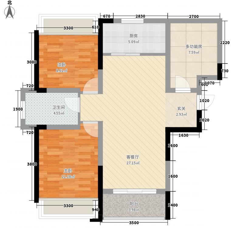 建业时光原著86.00㎡建业时光原著户型图B2奇数层户型2室2厅1卫1厨户型2室2厅1卫1厨
