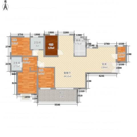 融汇江山4室1厅2卫1厨198.00㎡户型图