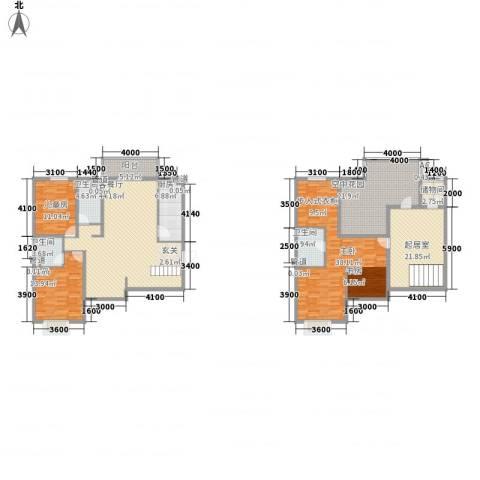 星湖国际花园3室1厅3卫1厨209.00㎡户型图