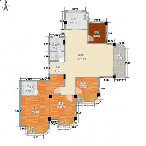 润和园4室1厅2卫1厨136.00㎡户型图