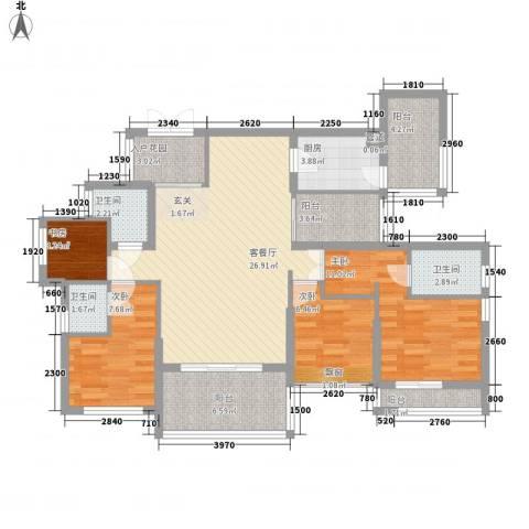融汇江山4室1厅3卫1厨229.00㎡户型图