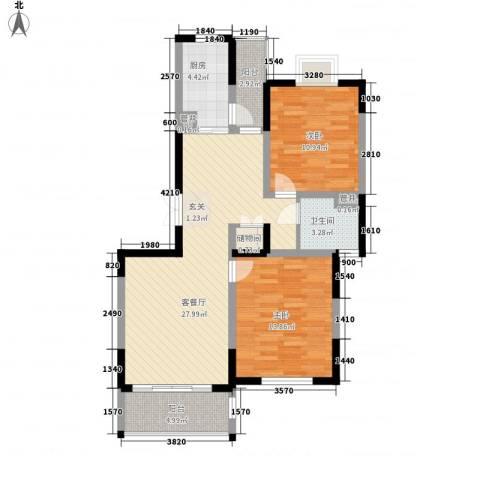 大华颐和华城2室1厅1卫1厨102.00㎡户型图
