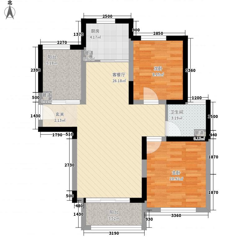 民丰公寓90.00㎡2室户型2室2厅1卫1厨