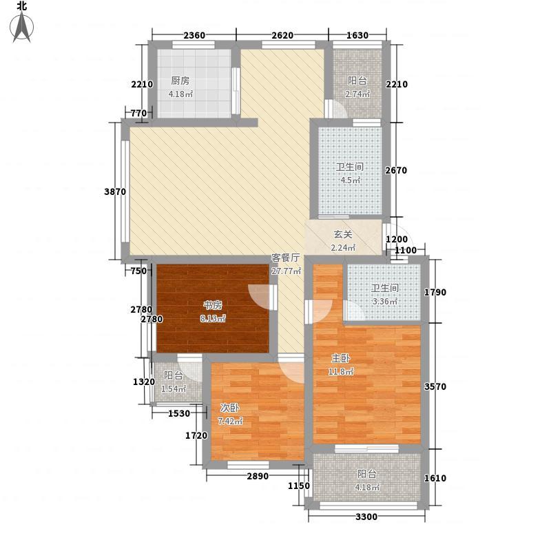 东冠繁华逸城111.66㎡东冠繁华逸城户型图20080722-C户型3室2厅2卫户型3室2厅2卫