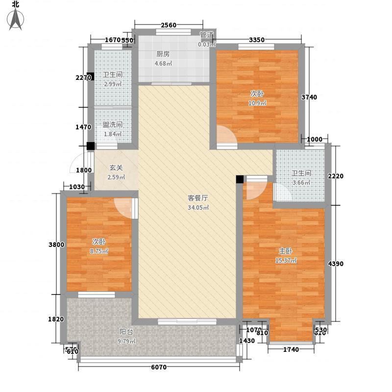 银桥金居133.00㎡G户型3室2厅2卫1厨