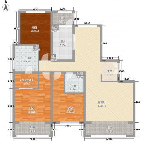 朝阳公园南路3室1厅2卫1厨178.00㎡户型图