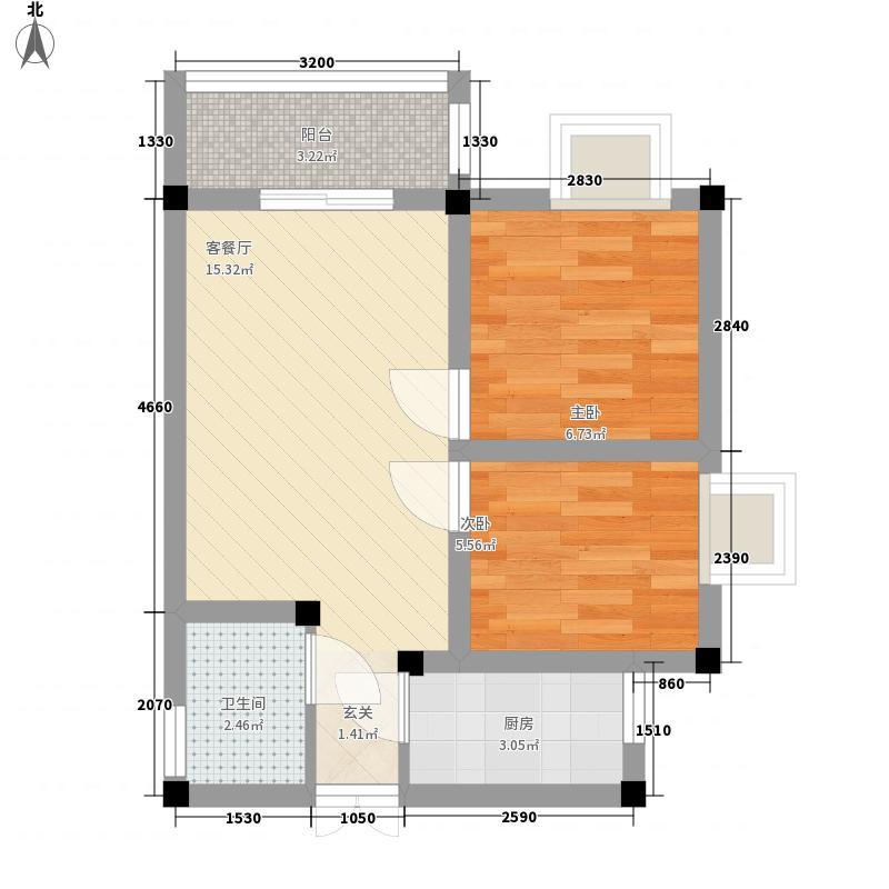 嘉德园55.58㎡三单元户型2室1厅1卫1厨