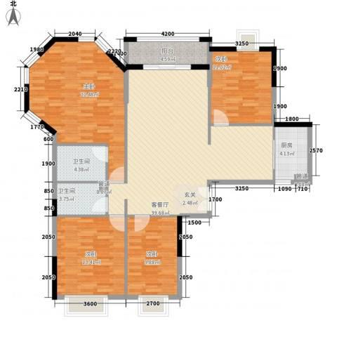 鑫润花园领会写字楼4室1厅2卫1厨113.46㎡户型图