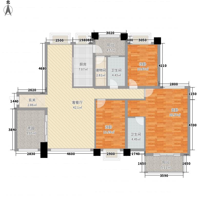中信红树湾二期145.00㎡中信红树湾二期3室户型3室