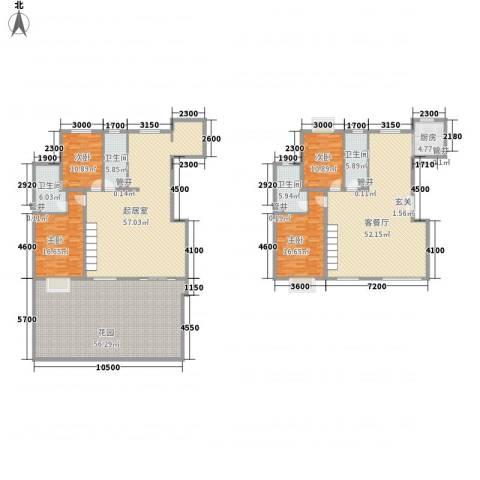 世纪星城・长城国际4室1厅4卫1厨249.67㎡户型图