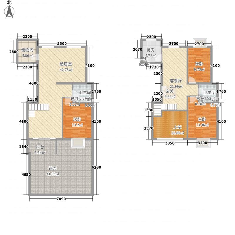 世纪星城长城国际169.05㎡三期长城国际A2户型下跃户型3室2厅1卫1厨