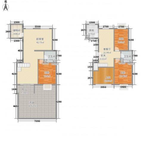 世纪星城・长城国际3室1厅2卫1厨171.14㎡户型图