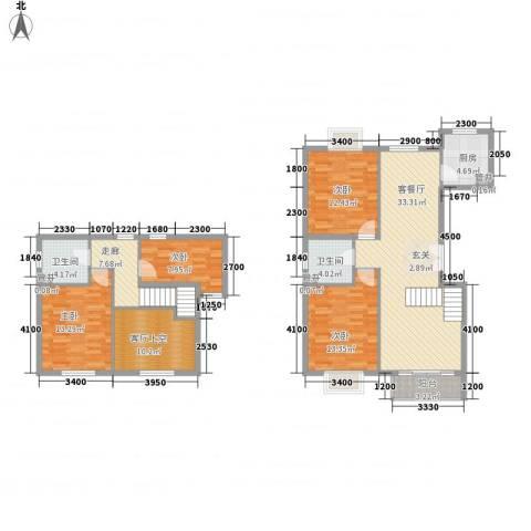 世纪星城・长城国际4室1厅2卫1厨150.00㎡户型图