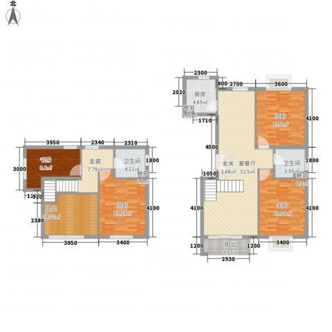 世纪星城・长城国际4室1厅2卫1厨155.00㎡户型图