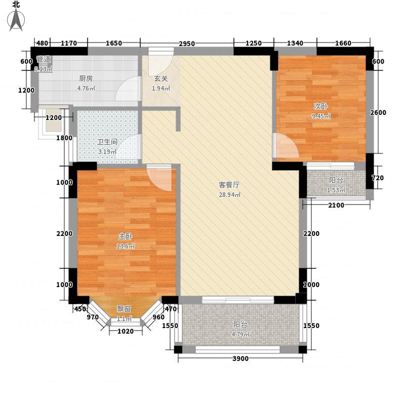 三盛托斯卡纳小区70.00㎡三盛托斯卡纳小区2室户型2室