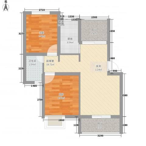 康乐大厦2室0厅1卫1厨70.00㎡户型图