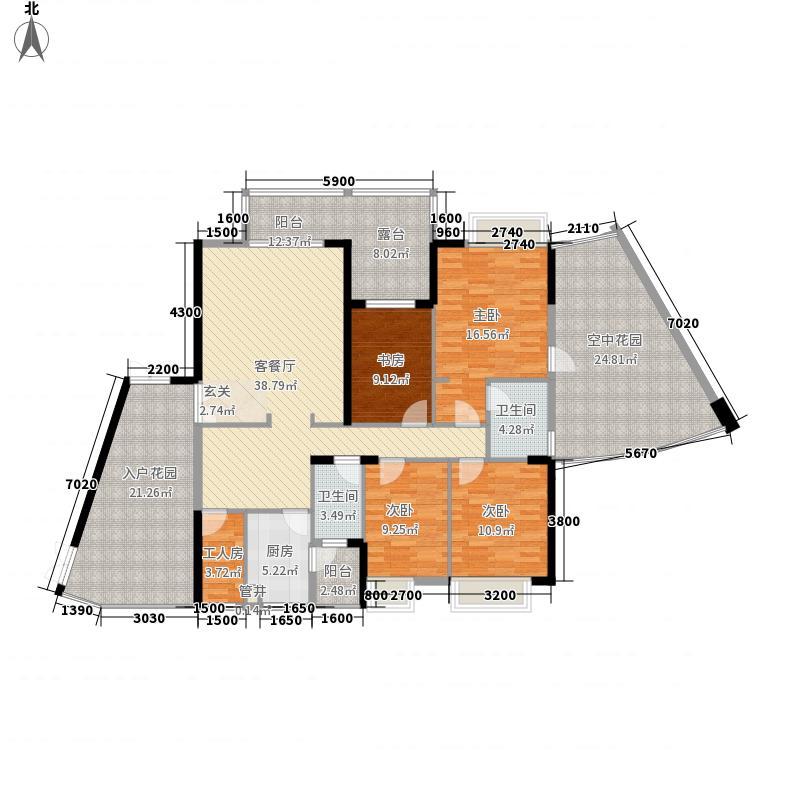 江南华府165.34㎡江南华府户型图天成阁B户型4室2厅2卫1厨户型4室2厅2卫1厨