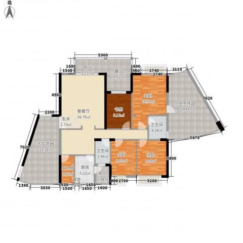江南华府4室1厅2卫1厨165.00㎡户型图