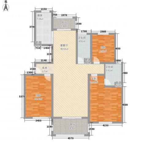 南海佳园 花溪别墅3室1厅2卫1厨137.41㎡户型图