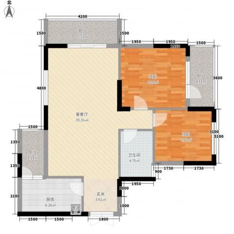 神舟科技大厦2室1厅1卫1厨115.00㎡户型图