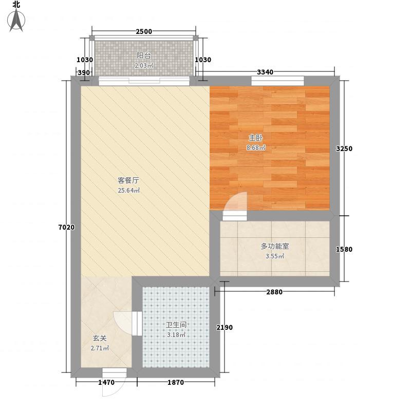 青口凯景公寓50.00㎡青口凯景公寓户型10室