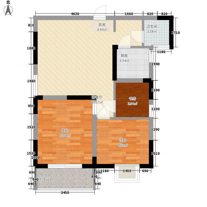 金海花园知寓81.90㎡金海花园知寓户型图青春空间B户型3室2厅1卫1厨户型3室2厅1卫1厨