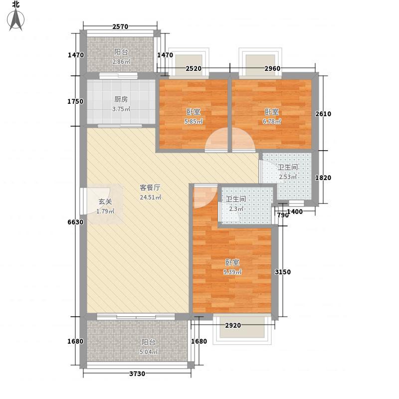 御华明珠花园90.00㎡御华明珠花园户型图1座01单元3室2厅1卫1厨户型3室2厅1卫1厨