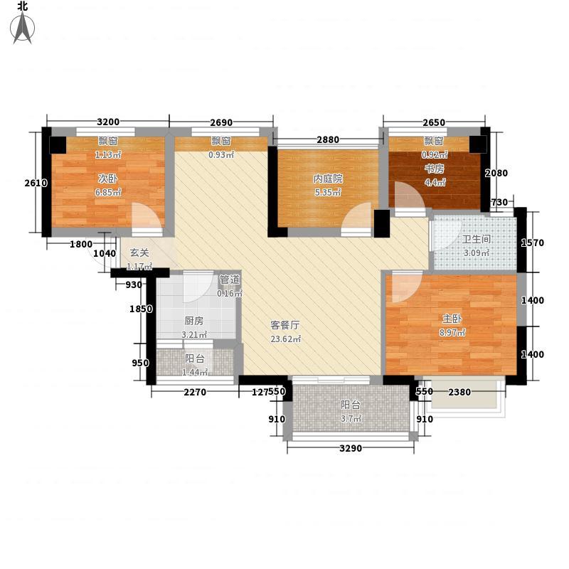 金悦领地88.00㎡金悦领地户型图B13室2厅1卫户型3室2厅1卫