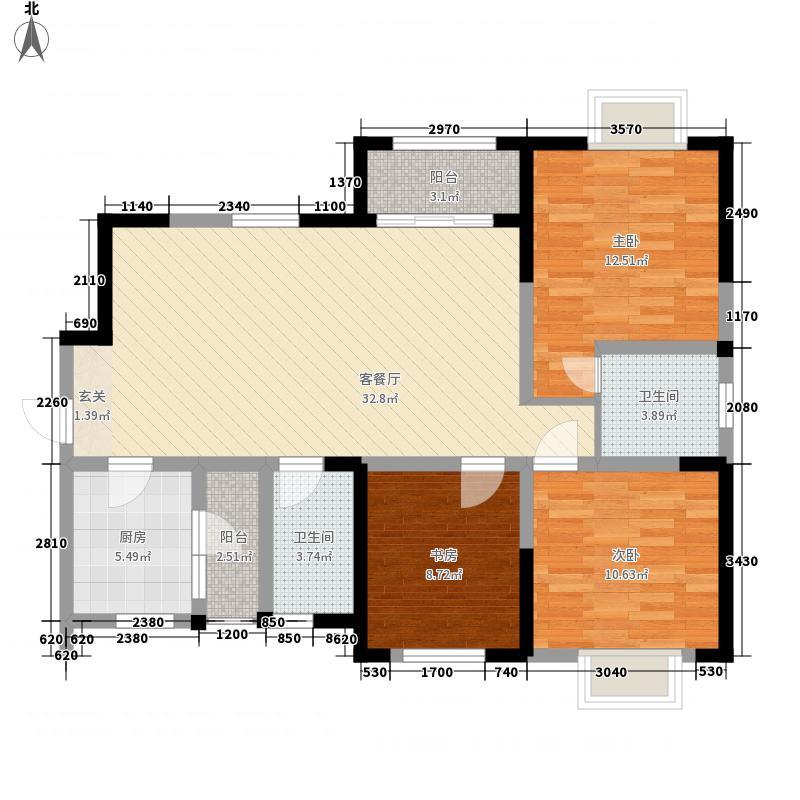 辰兴锦城国际16栋标准层E6户型
