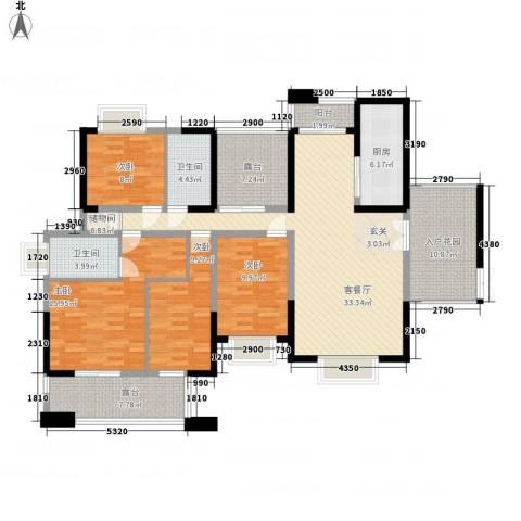 神剑苑4室1厅2卫1厨174.00㎡户型图
