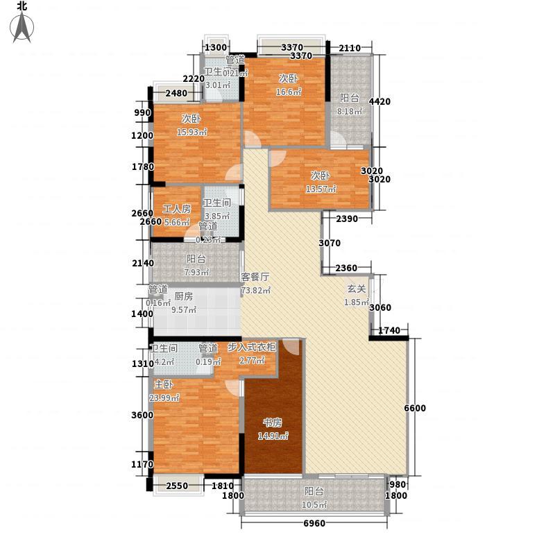 裕通花园246.00㎡西区4幢标准层02户型4室2厅3卫1厨